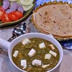 Palak Paneer | Palak Tofu | Tofu or Paneer in Spinach Gravy