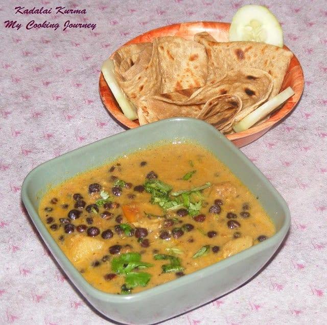kadalai Kurma served in a bowl
