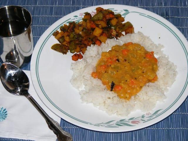 Chow chow carrot kootu %%