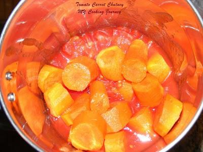 Carrot tomato thokkuchutney %%