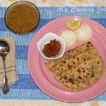 Aloo Methi Paratha / Parathas stuffed with Potatoes and fresh Fenugreek leaves – Blogging Marathon #25