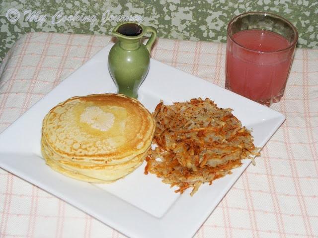 Classic American Breakfast (Vegetarian) – Pancakes and Hash Browns – BM # 31