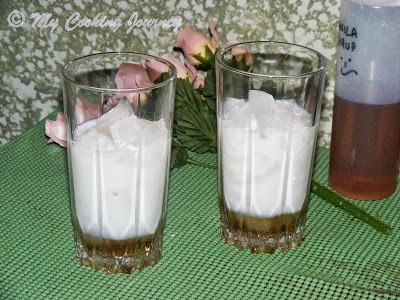 added milk