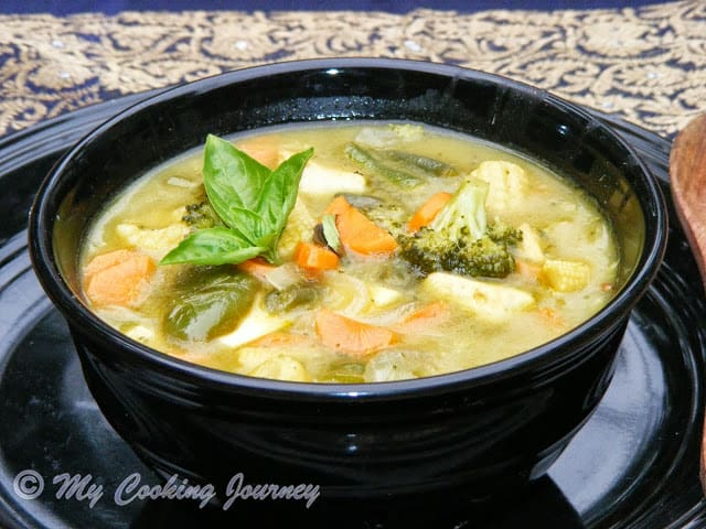 Kaeng Khiao Wan – Thai Green Curry with Vegetables and Tofu – BM # 32