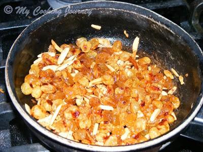 Fry the cashews