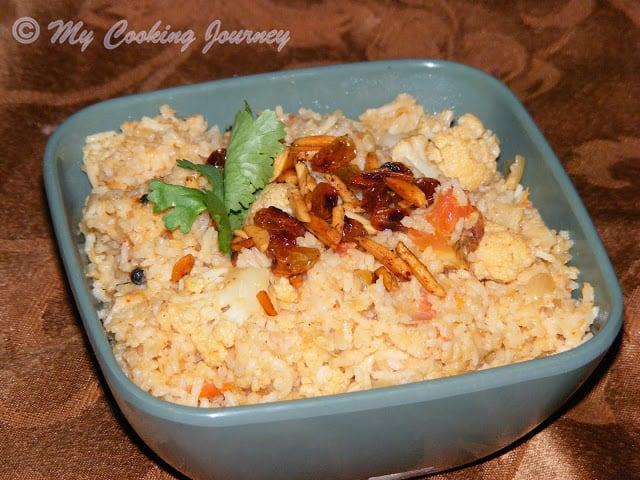 Cauliflower Dum Biriyani / Gobhi Dum Biriyani