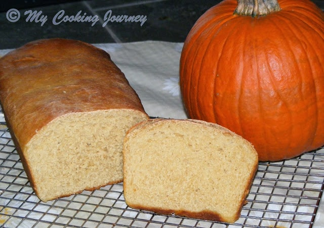 Pumpkin Yeast Bread – Egg less