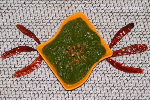 Kothamalli Thuvayal / Cilantro Thuvayal / Coriander Leaves Thuvayal