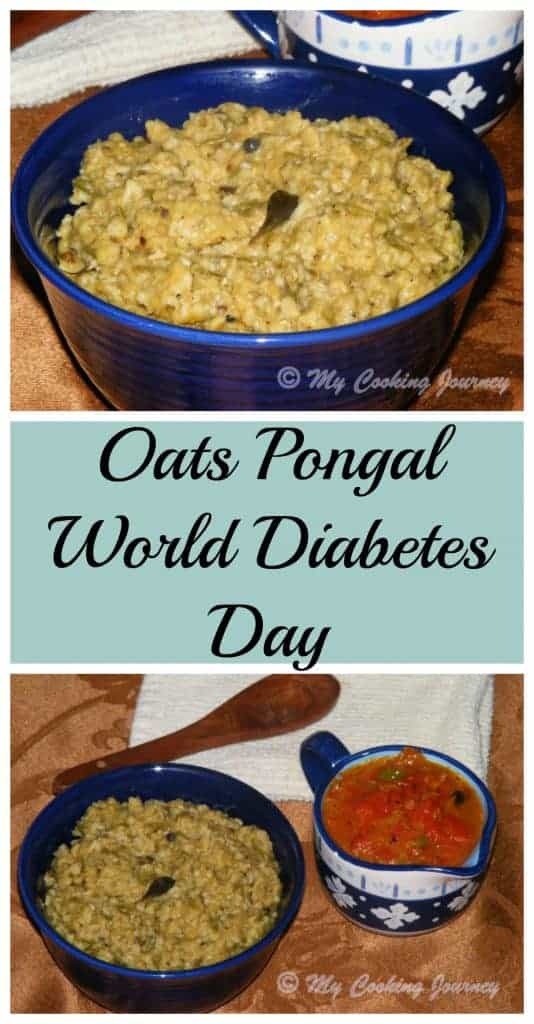Oats Pongal – World Diabetes Day