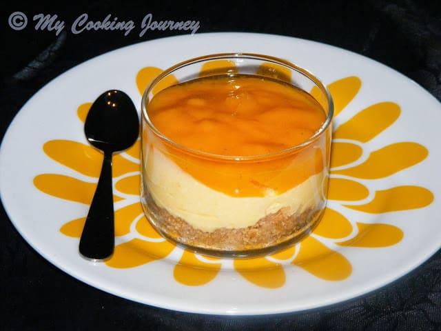 Egg less mango cheese cake %%