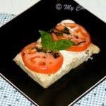 Foccacia Caprese (Focaccia Topped With Tomatoes, Mozzarella and Basil) – We Knead to Bake # 13