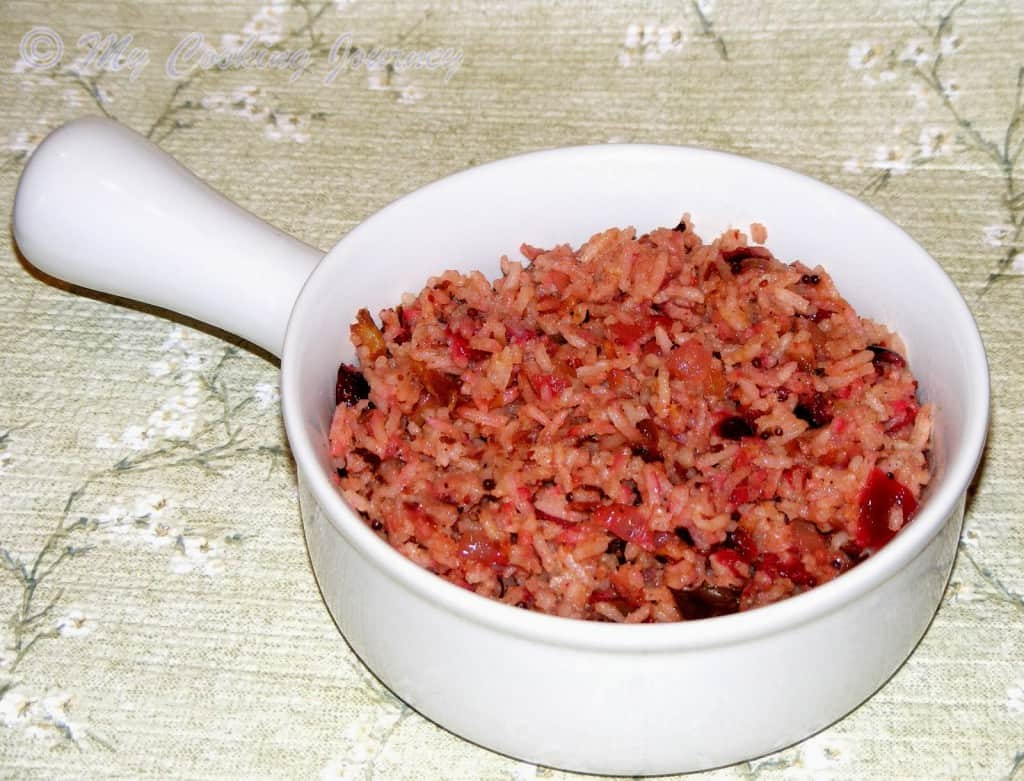Cranberry rice %%