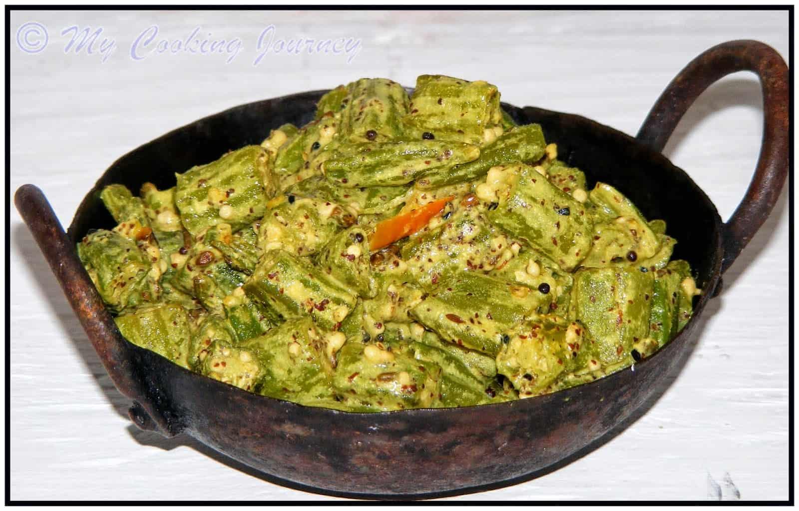 Bhendir Sorsori from Assam – Okra in Mustard Paste