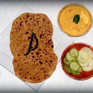Bikaneri Channa Dal Paratha - Flatbread stuffed with lentils
