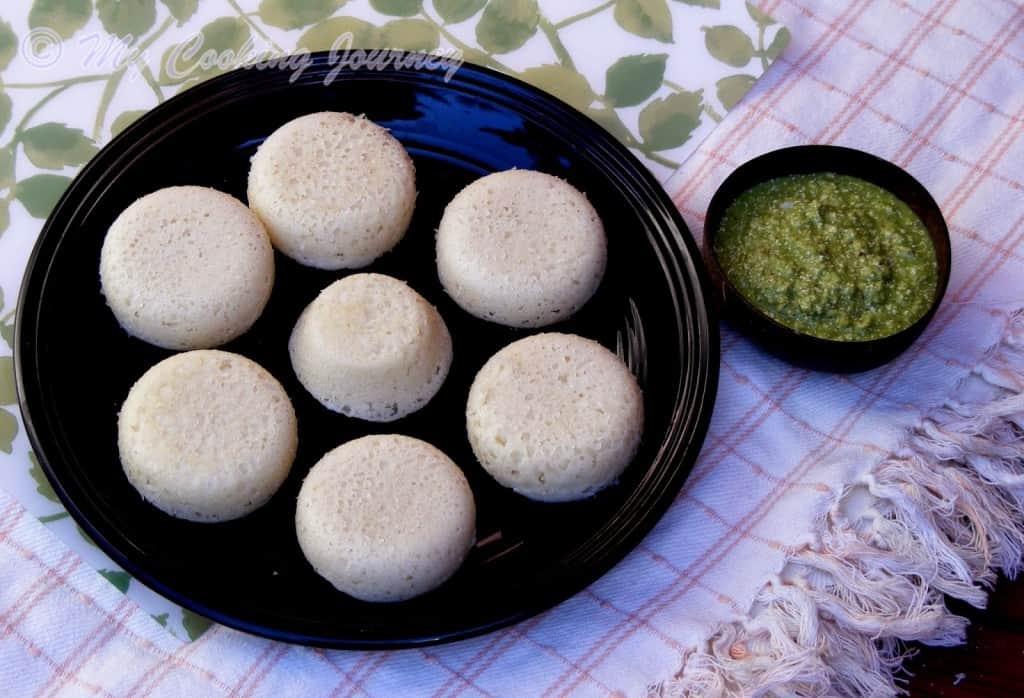Goa Sannas with Special coconut chutney