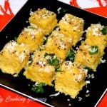 Khaman Dhokla/ Channa Dal Dhokla From Gujarat – Vati Dal Khaman Dhokla – Steamed Lentil Cakes