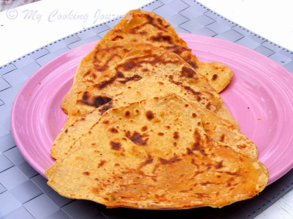 Haryana Besan Masala roti with Gajar methi subzi %%