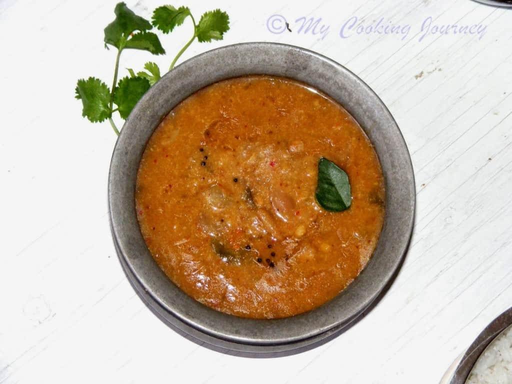 Tamil Nadu Feast Chinna Vengayam Araichu vitta sambhar %%