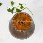 Thakkali Rasam – Tomato Rasam (made in Eeya Sombu)