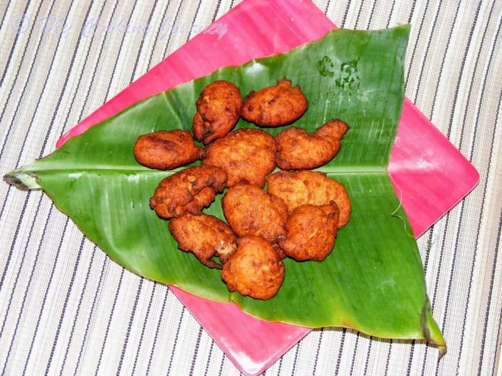 Tripura Koat Pitha on banana Leaf