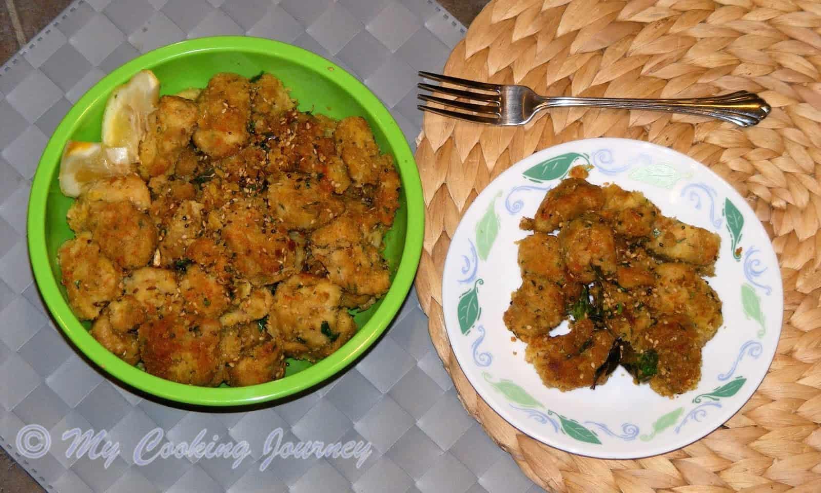 Lauki Muthia / Doodhi Muthia /Steamed Bottle Gourd Dumplings
