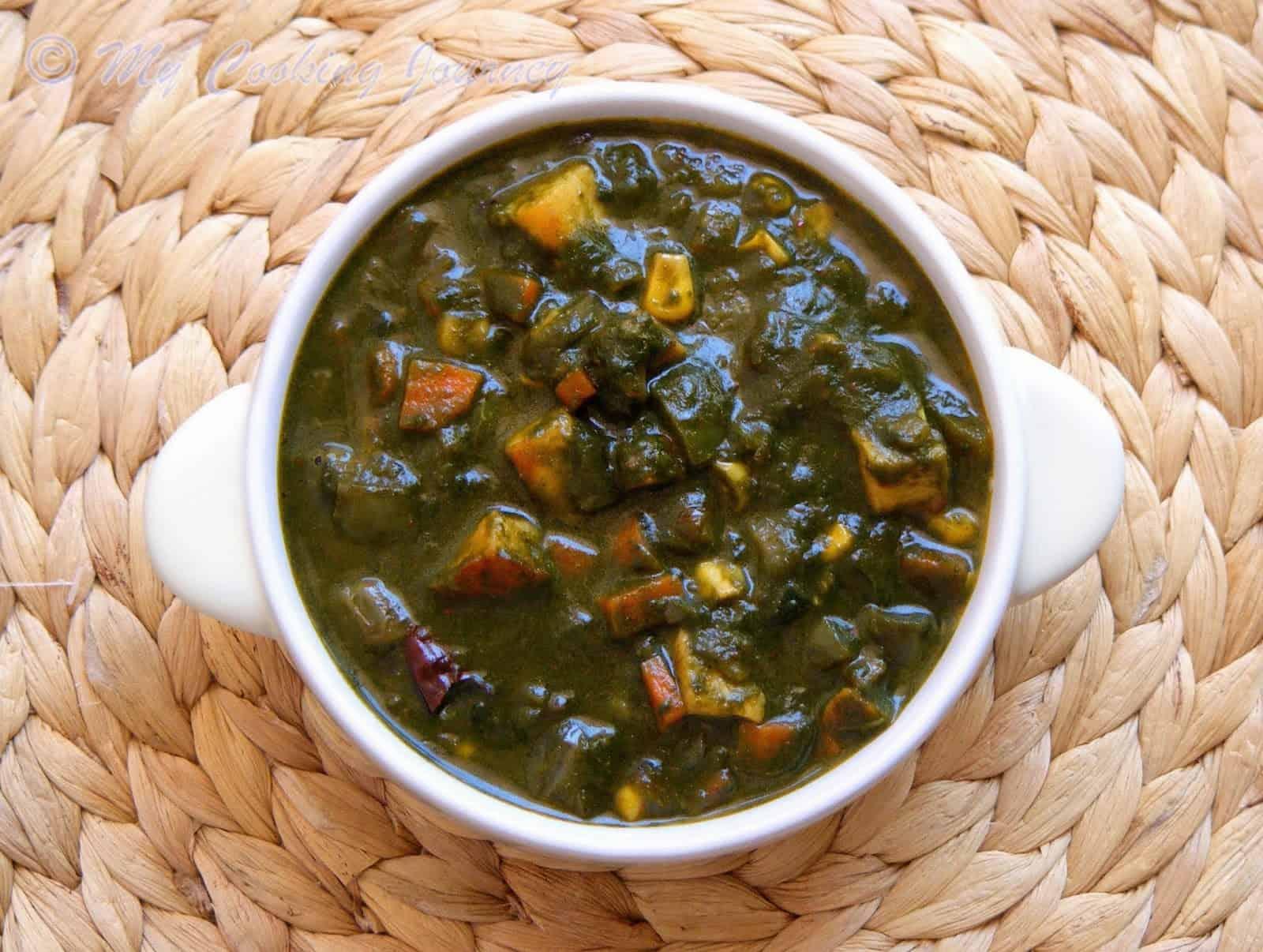 Subzi Diwani Handi – Mixed Vegetable Curry in Spinach Gravy