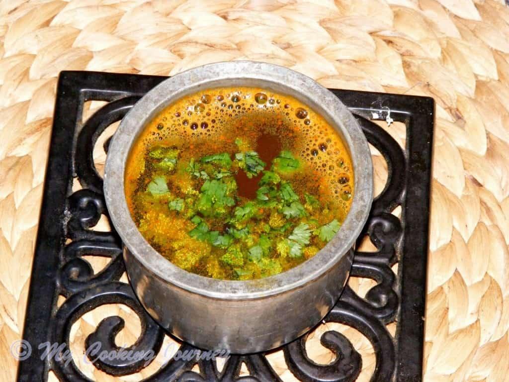 Thakkali Juice Rasam – Tomato Juice Rasam