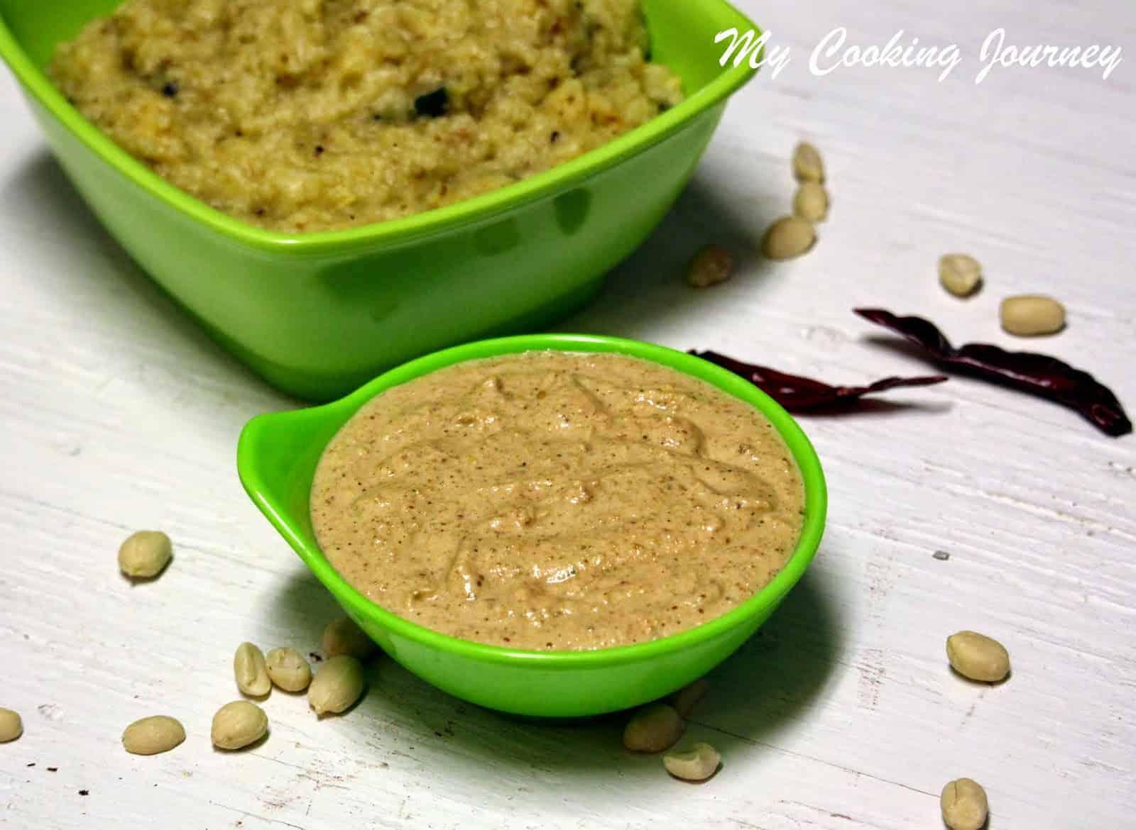 Peanut Chutney / Verkadalai Chutney – (Version -3)