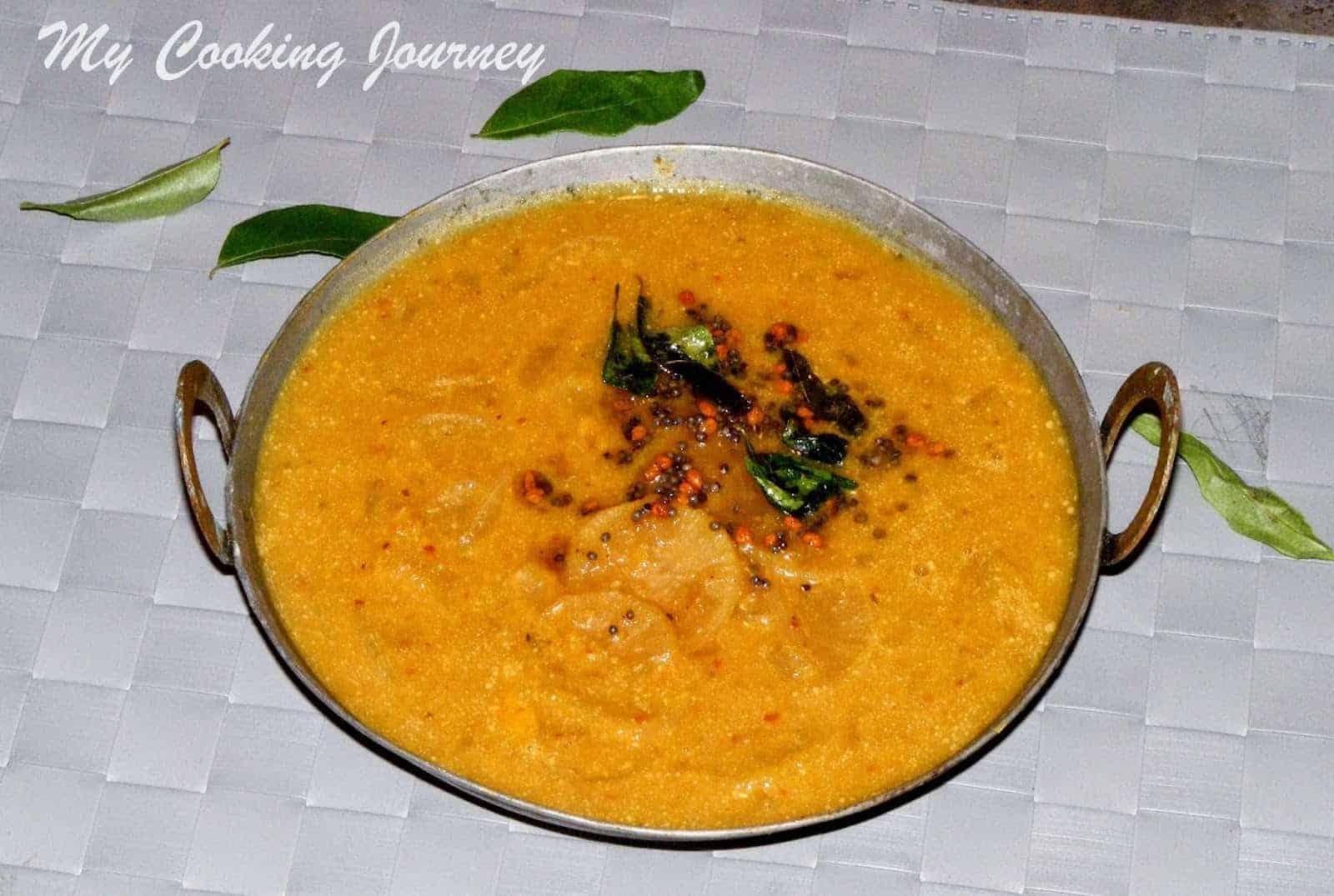 Mullangi Vendhaya Sambhar