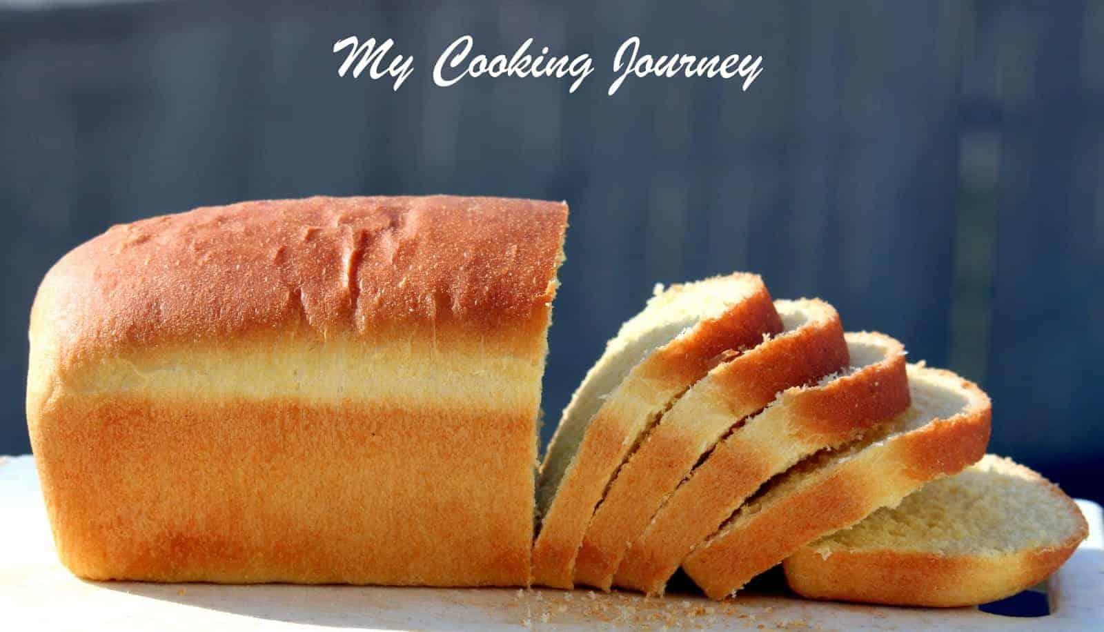 Semolina Bread sliced side view