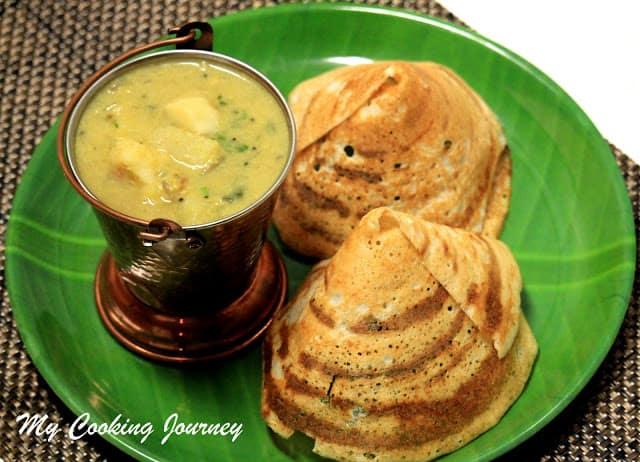 Kadappa – Tanjore served in a plate