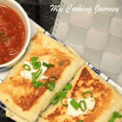Vegetarian Chimichangas | Black Bean, Cheese and Rice Chimichangas