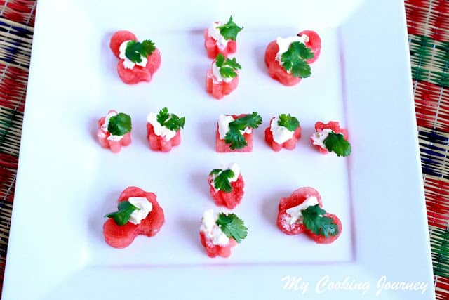 Watermelon bites %%