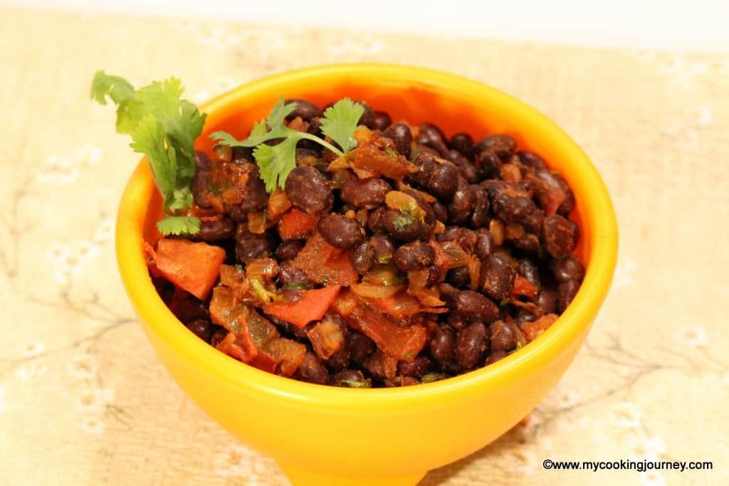Warm black bean salad