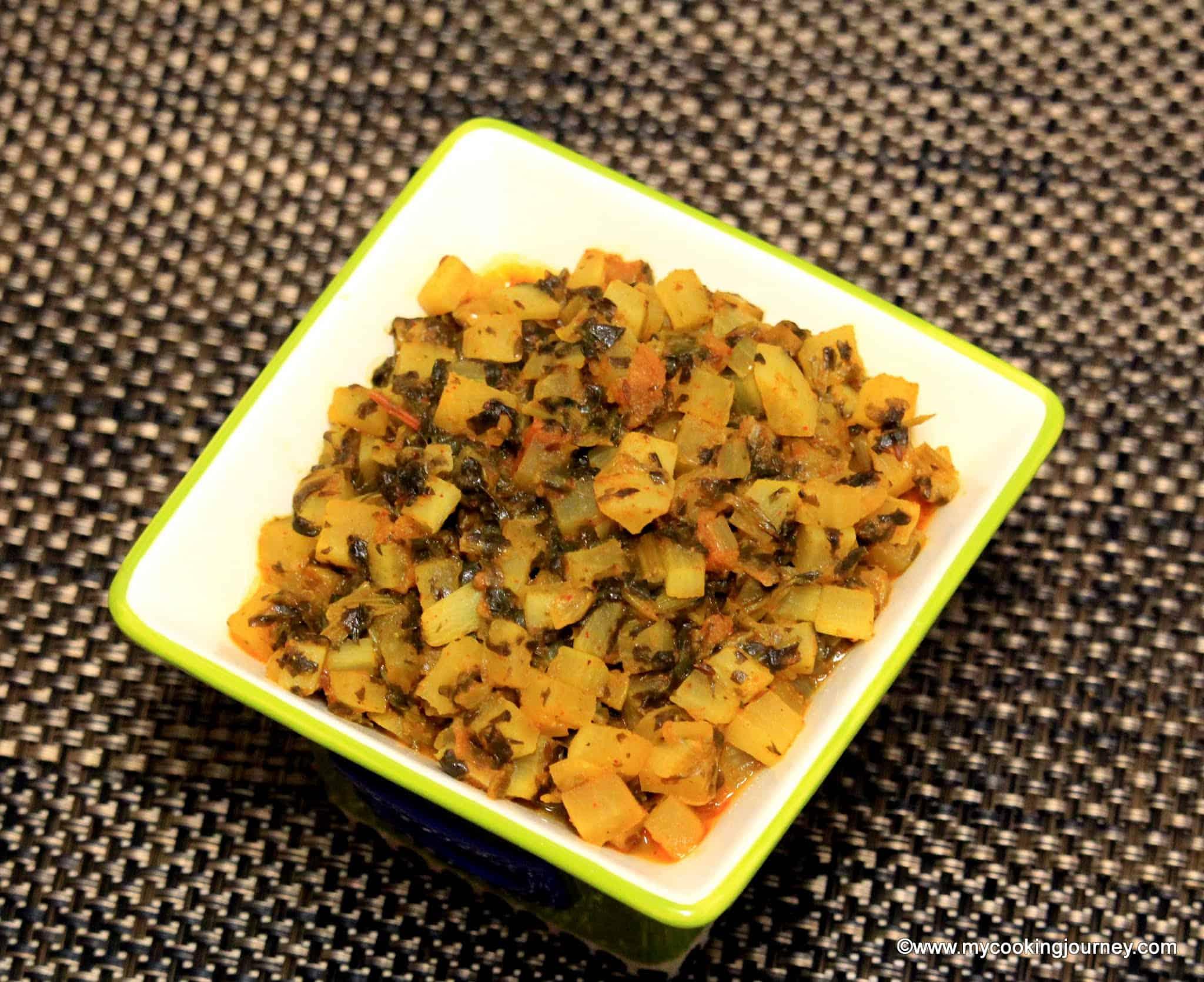 Mooli Palak Subzi – Radish and Spinach Subzi