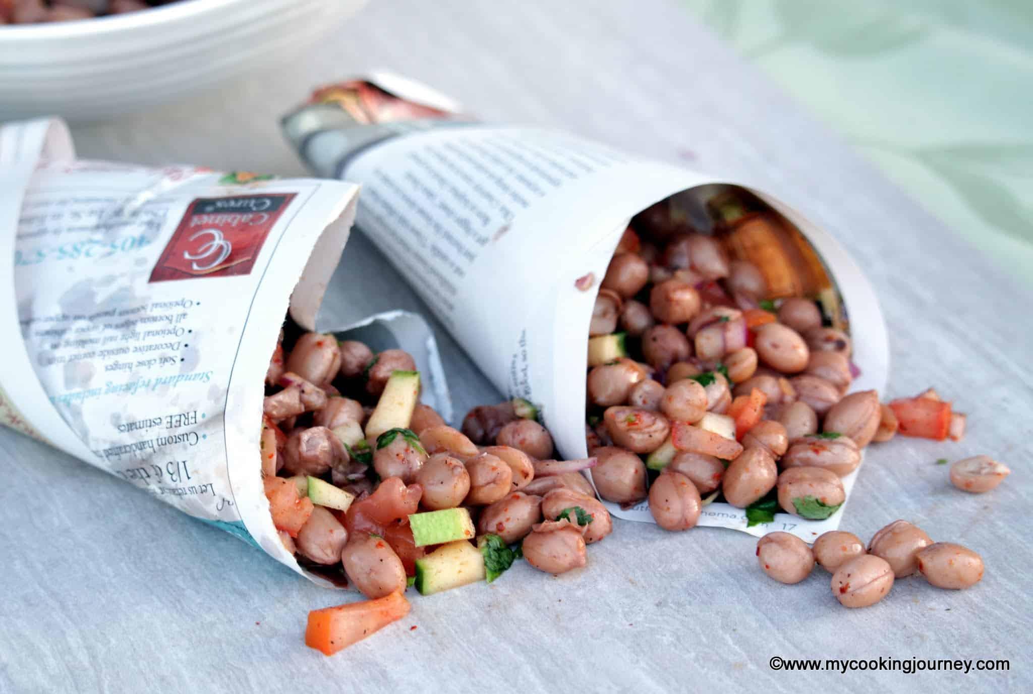 Beach Side Masala Peanuts – Spicy Boiled Peanuts – Beach Style Masala Sundal