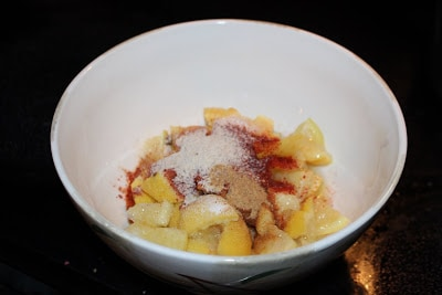 chopped lemon with spice powder and salt