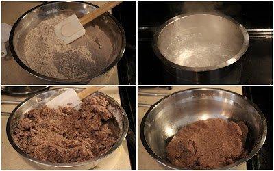 process shot to make dough for ragi idiyappam