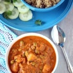 Shahi Aloo Matar – No Onion, No Garlic Shahi Aloo Mutter – Potatoes and Peas in Rich Tomato Gravy