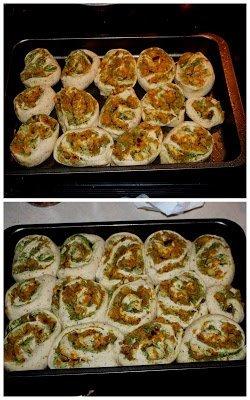 Pull-Apart Potato Stuffed Pinwheels