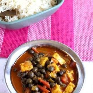 Hara Cholia Paneer Subzi/Fresh Garbanzo Beans Paneer Subzi