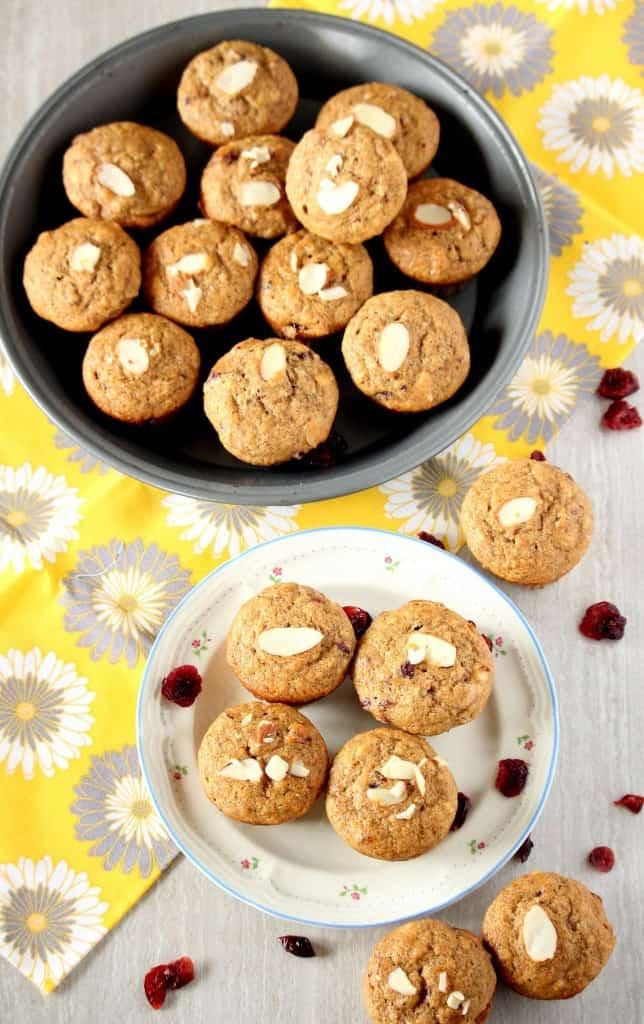 Whole Wheat Banana Cranberry Almond Muffins – Egg less Muffins