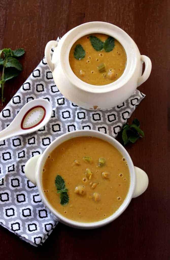 Chunky Chick peas soup