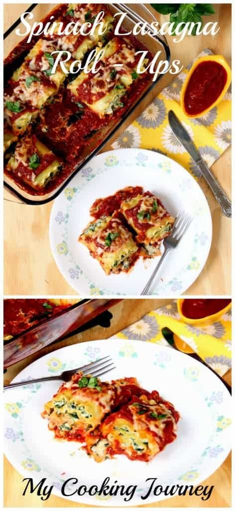 Spinach and Ricotta Cheese Lasagna Roll-Ups