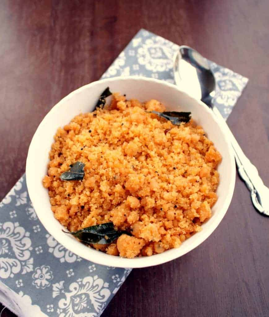 Kozhama Upma - Rice Flour Upma with Tamarind