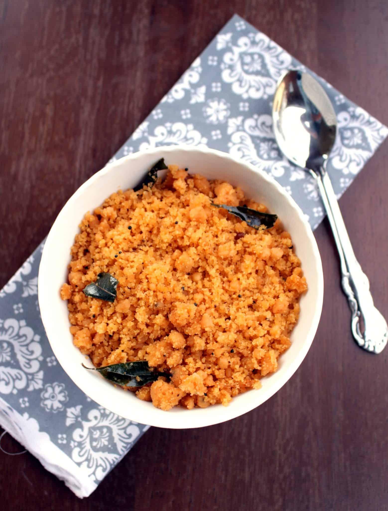 Kozhama Upma – Rice Flour Upma with Tamarind