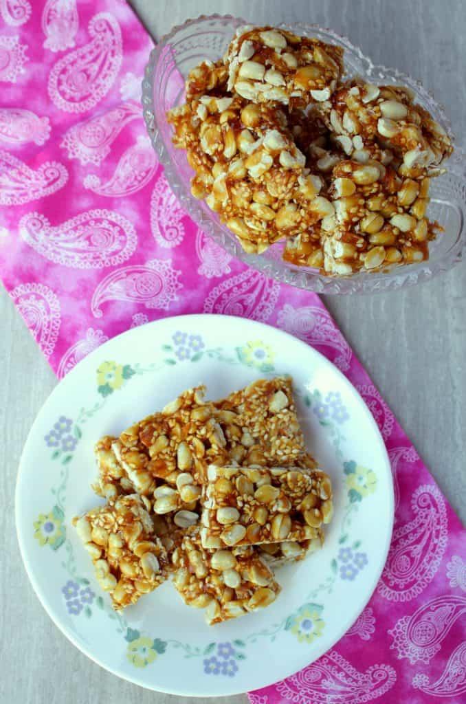 peanut sesame ginger brittle