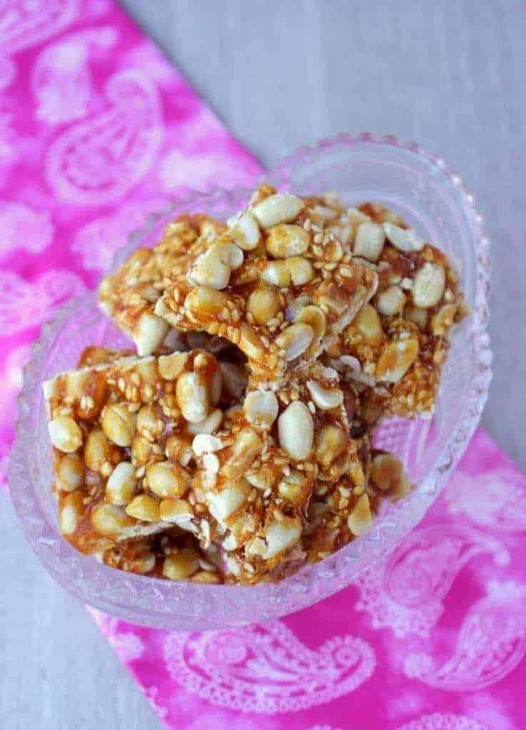 Chinese Peanut Sesame Ginger Brittle