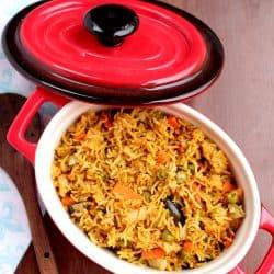 Vegetable Masala Bhaath – Instant Pot Vegetable Masala Bhaath