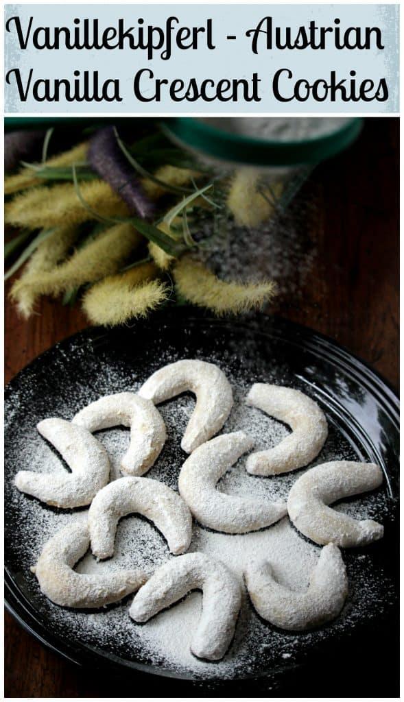 V for Vanillekipferl | Austrian Vanilla Crescent Cookies